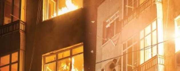 Kertenkele setinde yangın paniği!