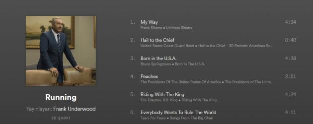 House of Cards'ın ünlü 3 karakterinin Spotify çalma listeleri!