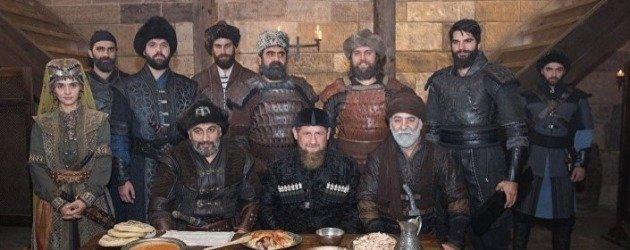 Çeçenistan lideri Kadirov Diriliş Ertuğrul setini ziyaret etti!