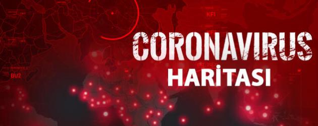 Koronavirüs haritası merak uyandırıyor! İşte o harita!