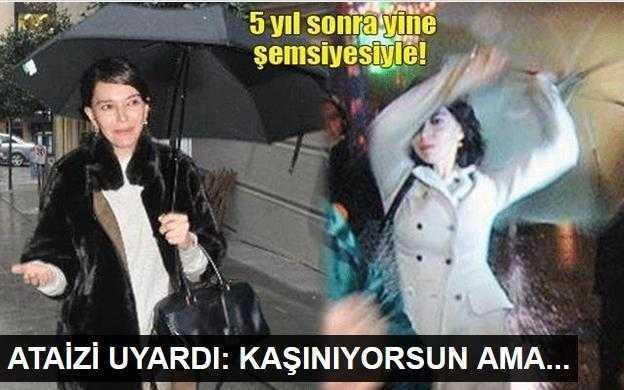 Hande Ataizinden şemsiyeli tehdit!
